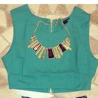 Belle La Vie Boutique — Green Crop Top
