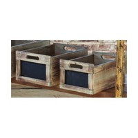 Amazon.com: Antique Style Produce Crates with Chalkboard Labels: Home & Kitchen