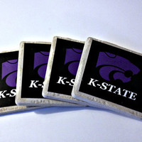 Kansas State University Tile Drink Coasters - Set of 4