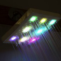Amazon.com: LED Shower Head Color Changing Chrome Bathroom Bath Rain Style Water Saving: Home Improvement