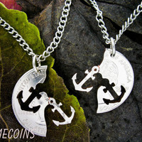 Anchor Interlocking Relationship Halves Quarter hand by NameCoins