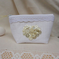 Victorian Make-up Bag, Bridesmaid Gift, Cosmetic Case