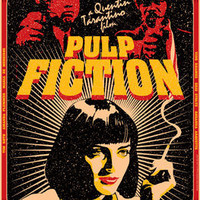 PULP FICTION - 1994 - movie from Quentin Tarantino - artistic movie poster