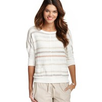 Textural Stripe Dolman Sleeve Sweater