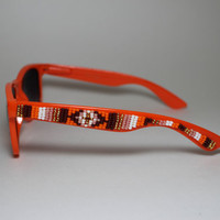 beaded sunglasses tribal design by brownbeadednet on Etsy