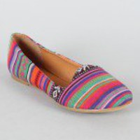 Tribal Print Loafer Flat