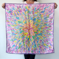 Hand Painted Silk Scarf Caroline One of a by littlethingsstudio