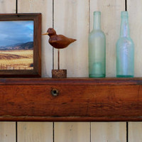 Reclaimed Wood - Wall Shelf - Farmhouse Chic - Shelves - Source: Kansas City Bleacher Boards