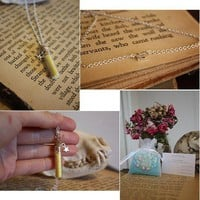Faerie Dust Vial Necklace  Yellow by spacepearls on Etsy