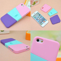 fancymall — Three color mix case for iphone4/4s/5