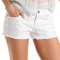 Hot Kiss Daisy Crochet Cutoff Short: Charlotte Russe