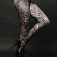 Amazon.com: Sexy Patchwork Fishnet Waist High Pantyhose: Clothing