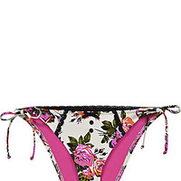 BetseyJohnson.com - BEAUTY MARK BIKINI BOTTOM CREAM MULTI
