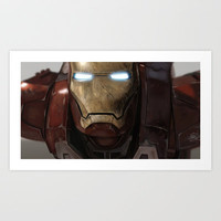 Iron Man Art Print by Mattias Fahlberg