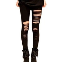 Sexy Punk Style Ripped Leggings