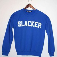SLACKER BLUE Unisex Crew Neck Sweatshirt