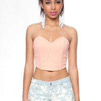 Ponti Bustier in Peach :: tobi