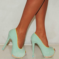LADIES MINT FAUX SUEDE P...