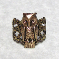 Woodland Forest Little Owl Ring Band