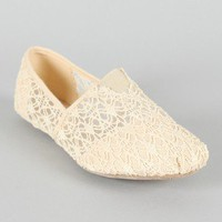 F-37 Lace Round Toe Loafer Flat