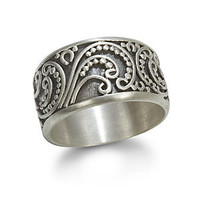Peaceful Paisley Ring - Silver