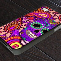 Sugar Skull Paisley - Print On Hard Cover For iPhone 5