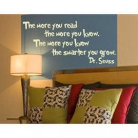 Alphabet Garden Designs The More You Read Wall Decal - child026