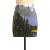 Remember Your Dreamscapes Skirt in Blue | Mod Retro Vintage Skirts | ModCloth.com