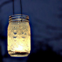 Hand Painted Mason Jar Moroccan Lantern Henna Inspired by LITdecor