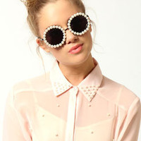 Amelia Pearl Trim Sunglasses