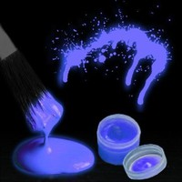 Glow in the Dark Body Paint (By The Color) (Blue)