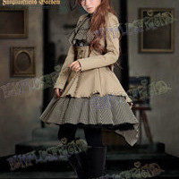 """Time Traveler"" Steampunk Lolita Coattail Double-Layer Skirt*2color Instant Shipping"