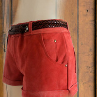 Leather shorts by saravah on Etsy