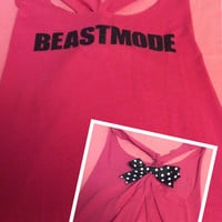 Pink Beastmode Racerback Work-out Tank Top