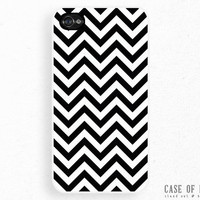 iPhone 5 4 Zig Zag Case - Samsung Galaxy s3, ipod touch - striped chevron - Black White Monochrome -2