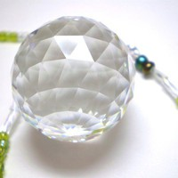 Crystal Ball SunCatcher - CUSTOMIZE your chain colors, Made-to-Order