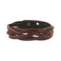 Woven Leather Bracelet | FOREVER21 - 1000034350