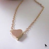 Delicate Miniature Heart Necklace