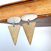 Arrow Earrings - Silver and Gold