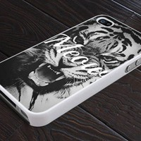 Wild Life MEOW Tiger Vintage - Print On Hard Cover For iPhone 5