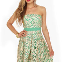 Mermaid of Honor Strapless Mint Green Dress
