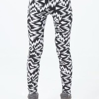 Amazon.com: Womens Ladies Zigzag Pattern Leggings Pants: Clothing