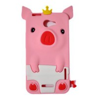 Amazon.com: Disney Crow 3D Pig TPU Rubber Skin Case for HTC One X 4G - Pink: Cell Phones & Accessories