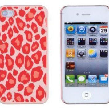 Amazon.com: Coral Leopard Embossed Hard Case for Apple iPhone 4, 4S (AT&T, Verizon, Sprint) - Includes DandyCase Keychain Screen Cleaner [Retail Packaging by DandyCase]: Cell Phones & Accessories