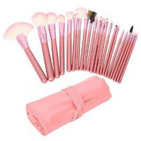 Amazon.com: Wholesale 22pcs Professional Cosmetic Makeup Brush Set with Pink Bag Pink Christmas Gift: Beauty