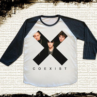 Size S -- THE XX Coexist T Shirts The xx Shirt Indie Pop Shirts Jersey Tee Baseball Tee Raglan Tee Long Sleeve Unisex Shirts Women Shirts