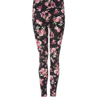 FULL TILT Ponte Floral Womens Leggings   215473320 | Leggings | Tillys.com