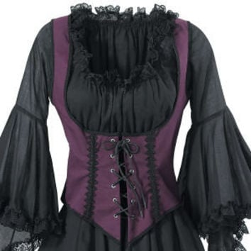 Purple Twill Bodice - New Age & Spiritual Gifts at Pyramid Collection