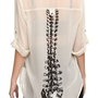 Sheer Chiffon Spine Back Top
