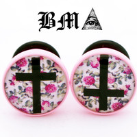 Floral Cross Plugs